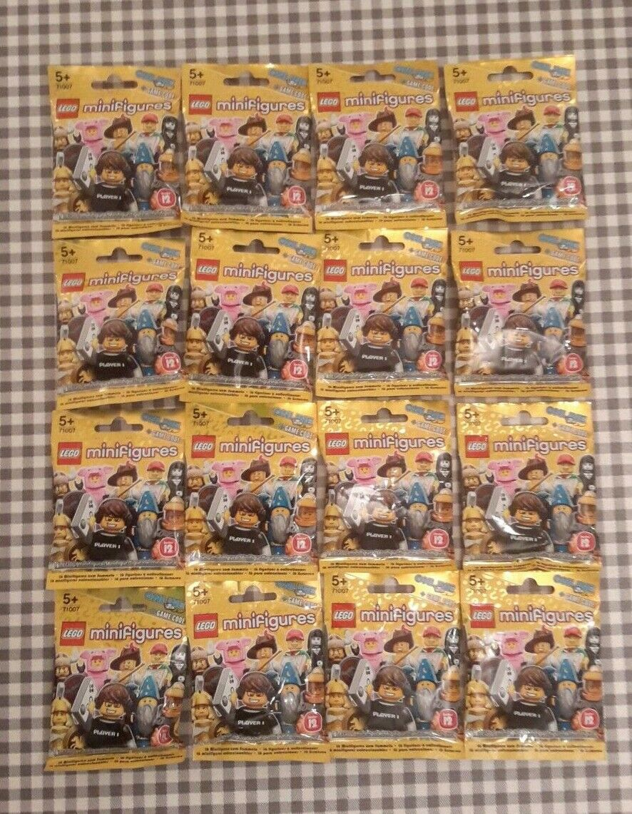 Lego minifigures series 12 (71007) complete unopened set x 16 new factory sealed