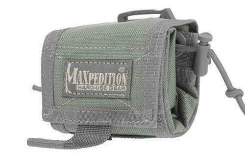 "Maxpedition MX208F Rollypoly Foliage Green Folding Dump Pouch 3/"" x 3/"" x 1.75/"""