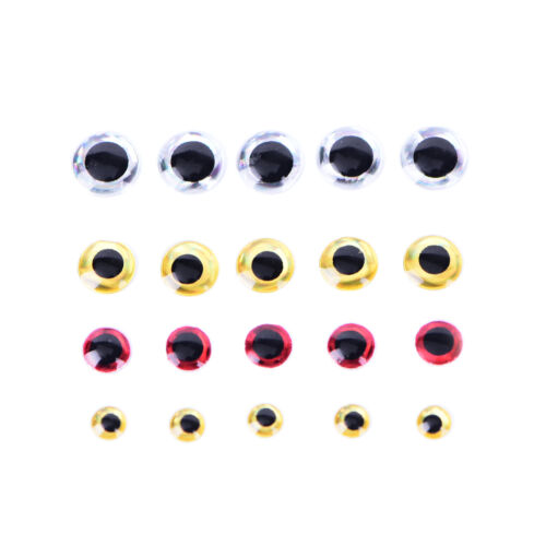 500PCS 3-6mm Fish Eyes 3D Holographic Lure Eyes Fly Tying Jigs Crafts Dollsca