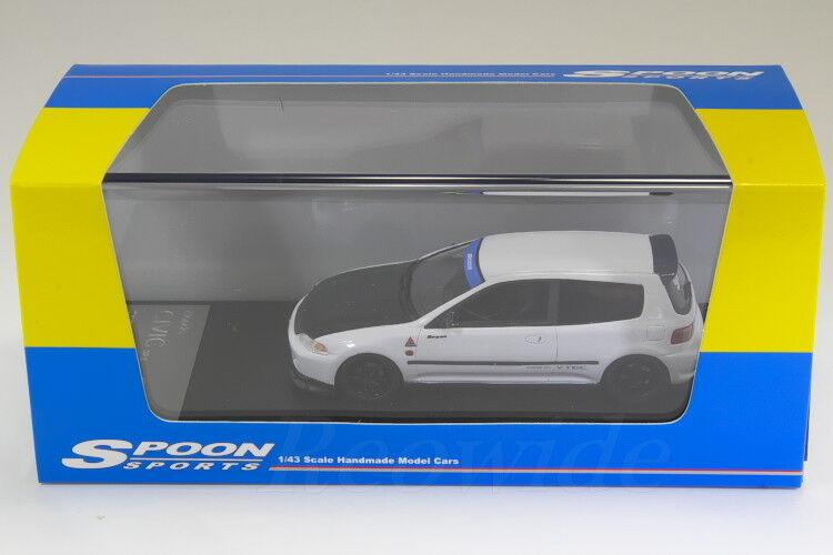 Hi-Story 1 43 SPOON Honda Civic SiR-2 EG6 Frost White  HS140 WH
