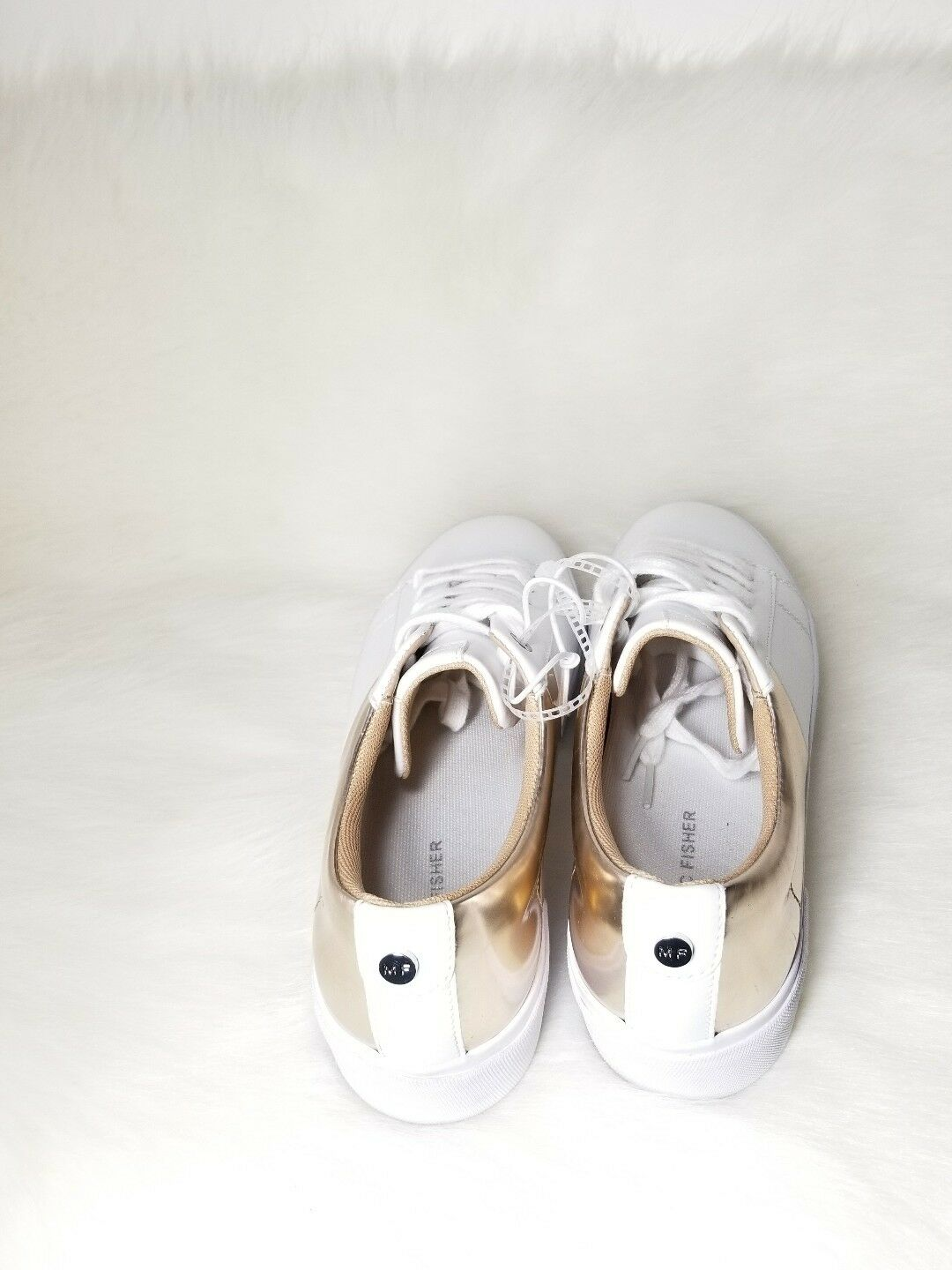 Marc Fisher Platforms Fashion Sneakers Xena pink gold and and and White US 8.5 6bf5ee