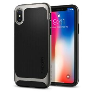 Spigen-iPhone-X-Case-Neo-Hybrid-Gunmetal