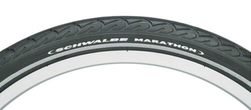 NEW Schwalbe Marathon Tire 20x1.5 Wire Bead Black with Reflective Sidewall and