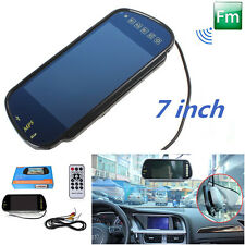 "7"" Car TFT LCD HD Monitor Rear View Mirror with Bluetooth MP5/FM/USB/SD/TF Slot"