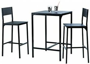 Image Is Loading Industrial Style Bar Table Set Two Stools Contemporary