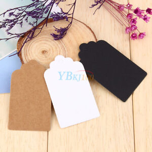 100pcs-Blank-Craft-Paper-Hang-Tags-Wedding-Party-Favor-Label-Price-Gift-Cards-im