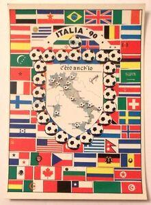 Cartolina-Italia-90-C-039-Ero-Anch-039-Io-Stemma-Italia-Stivale-Luoghi-Bandiere