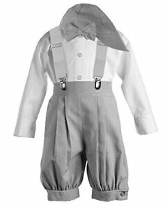 67d6540f59b1 Vintage Dress Suspender Suit Set Boys - Bowtie Suspenders Knickers ...