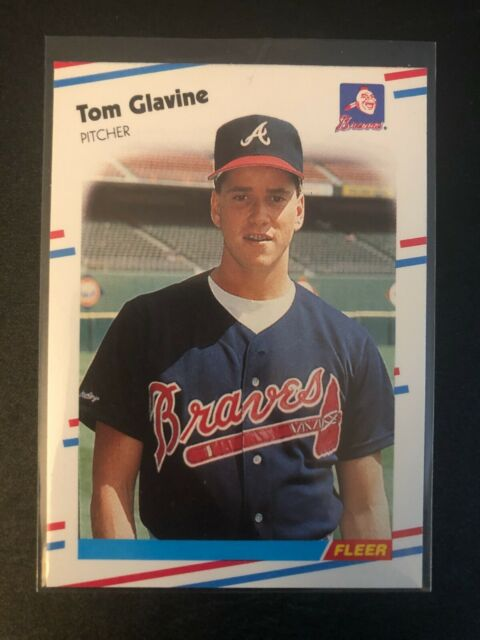1988 Fleer Tom Glavine rookie card #539 - Braves - HOF     NM-MT