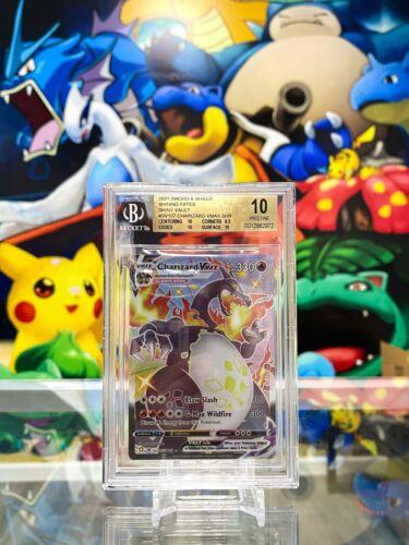 Pokemon Shining Fates Charizard Vmax Shiny Vault SV107/SV122 - PRISTINE BGS 10!