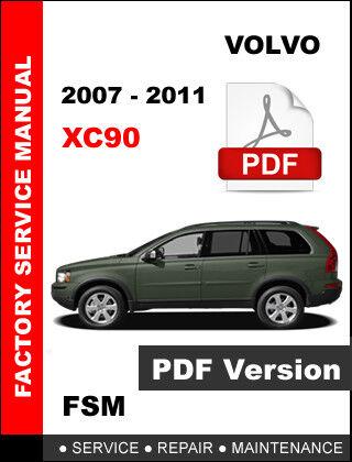 factory workshop service repair manual volvo xc90 2007 2011 pdf ebay rh ebay com Volvo XC90 Coolant Leakage Issue 2005 Volvo XC90 ECM Connector Diagram