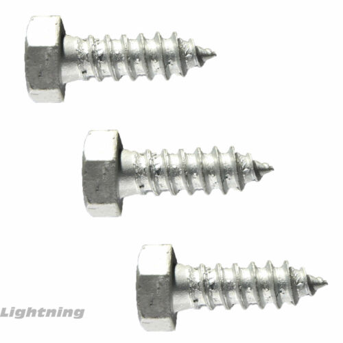 """Lag Bolt Screw Hot Dipped Galvanized A307 Alloy Steel 5//16 x 4-1//2/"""" Qty 500"""