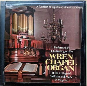 CLASSICAL-ORGAN-LP-J-S-DARLING-ON-THE-WREN-CHAPEL-ORGAN-AT-WILLIAM-amp-MARY