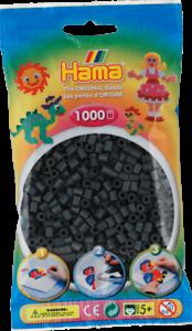 207-71 Paquete De 1000 Hama Cuentas Midi-Gris Oscuro