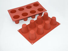 8 Holes Silicone Cylinder Barrel Cone Cake Chocolate Soap Pudding Jelly Mold