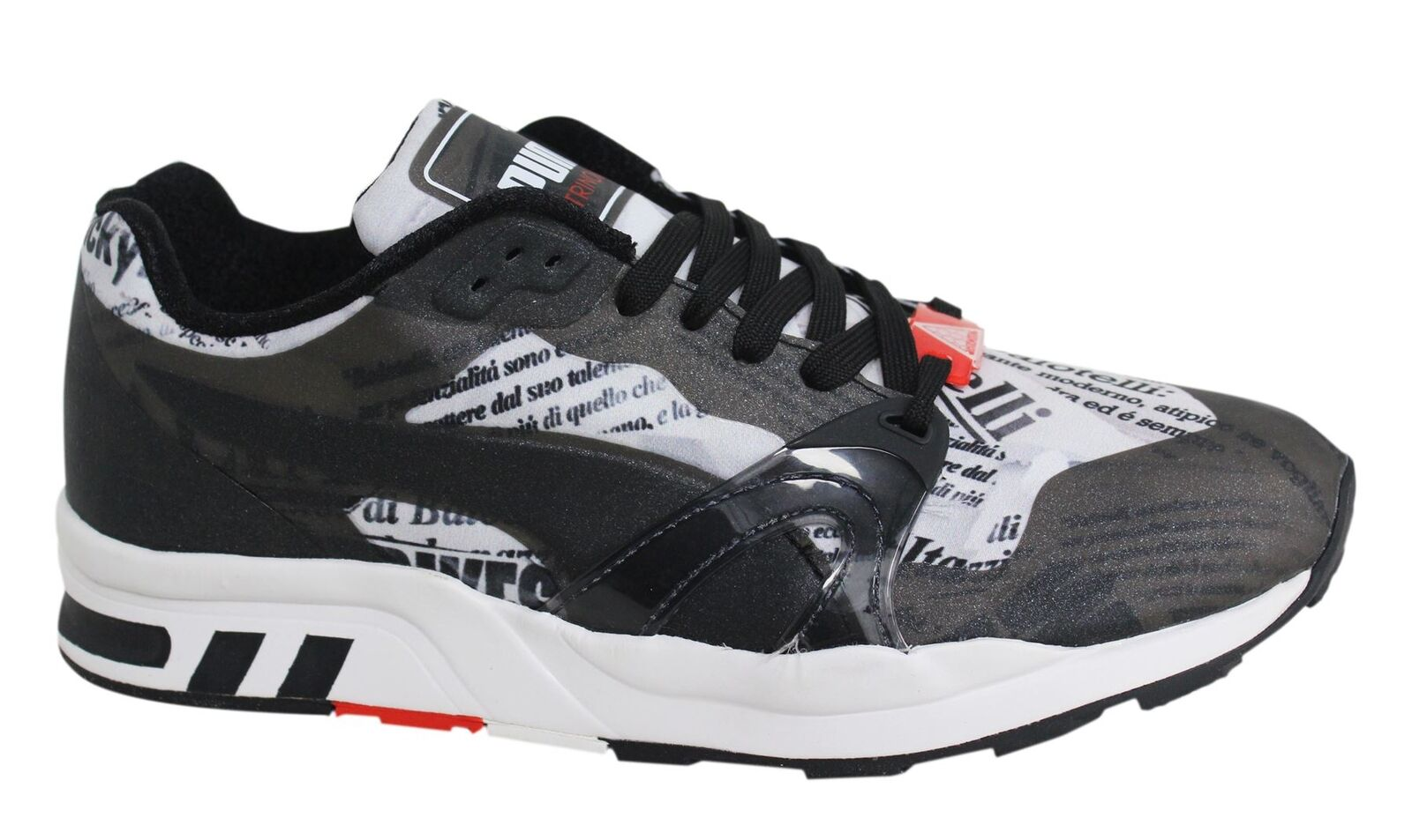 Puma XT1 EVO W.A.P. Black White Lace Up Synthetic Mens Trainers 360082 01 M12