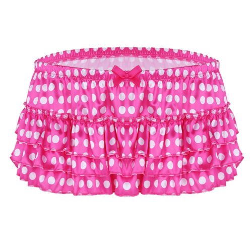 Mens Sissy Brief Panties Thong Underwear Tiered Skirted Trunks Shorts Underpants