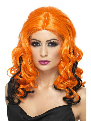 Orange And Black Wicked Witch Wigs