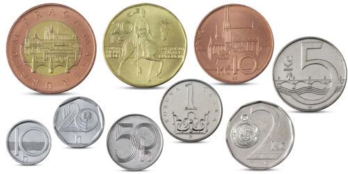 50 KORUN BIMETALLIC 1996-2012 UNC CZECH REPUBLIC 9 COINS SET 1 H