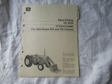 John Deere 37 Farm Loader Parts Catalog Manual Book