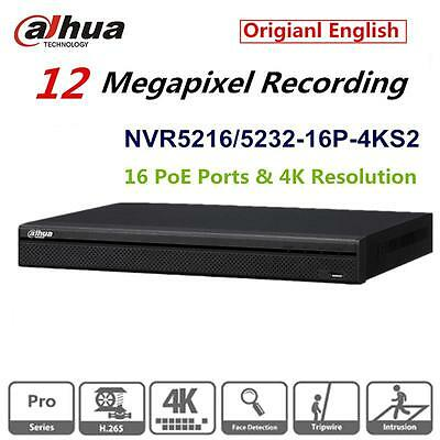 Dahau NVR NVR5216-16P-4KS2E 16 Channel 16 PoE 1U 16PoE 4K/&H.265 Pro Network Video Recorder ONVIF English Version teaker
