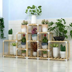 En-Bois-Plante-Support-Interieur-Exterieur-Patio-Jardin-Pot-De-Fleur-Support-etagere