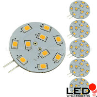 G4 Base Side-pin Disc Type Led Bulb With Smd2835 12v Ac/dc 1.8w (6-pack)
