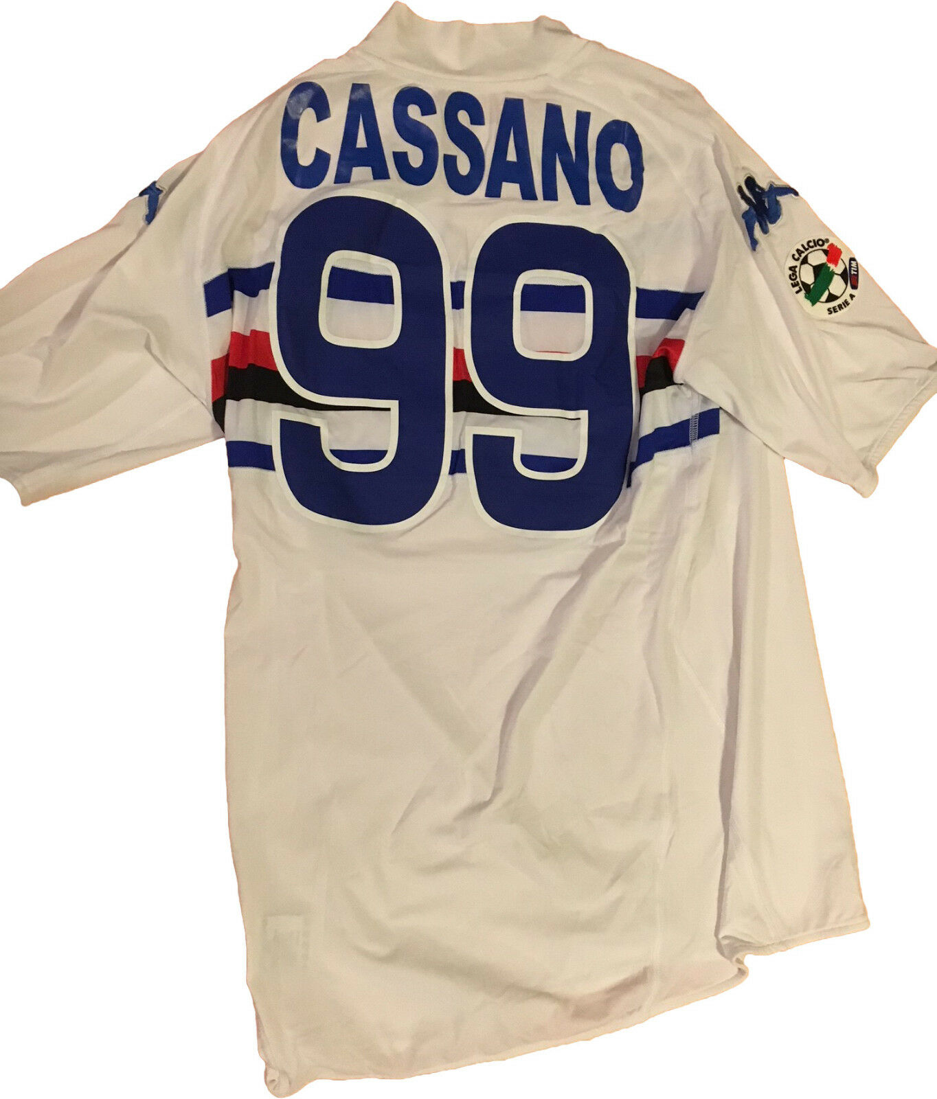 Maglia Sampdoria match worn CASSANO 2008 2009 SERIE A vintage shirt