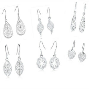 wholesale-6pair-set-925-silver-for-women-charms-lady-wedding-Earrings-jewelry