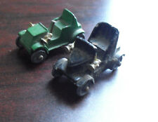 Lot of 2 Vintage 1950s Small Lead Old Fashion Cars LOOK