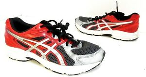 Youth Boys Asics GEL-Contend 2 Mesh Running Shoe Red   Silver Size ... 3810edea6e
