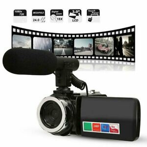 Digital-Camera-1080P-Video-18X-ZOOM-24MP-DV-Camcorder-Recorder-with-Microphone