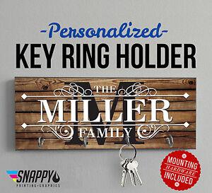 Personalized Key Hanger, Wall Mounted Key Rack, Key Holder, Housewarming Gift