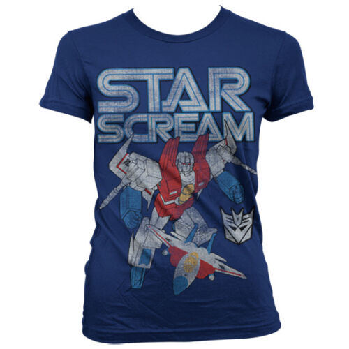 Starscream Distressed Women T-Shirt Officially Licensed Transformers S-XXL