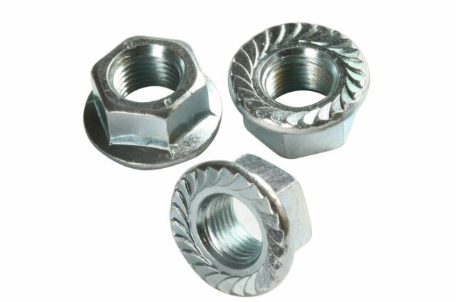 Qty 5 Hex Flange Nut 3/8 UNF  24 TPI Zinc Plated Serrated High Tensile G8 ZP