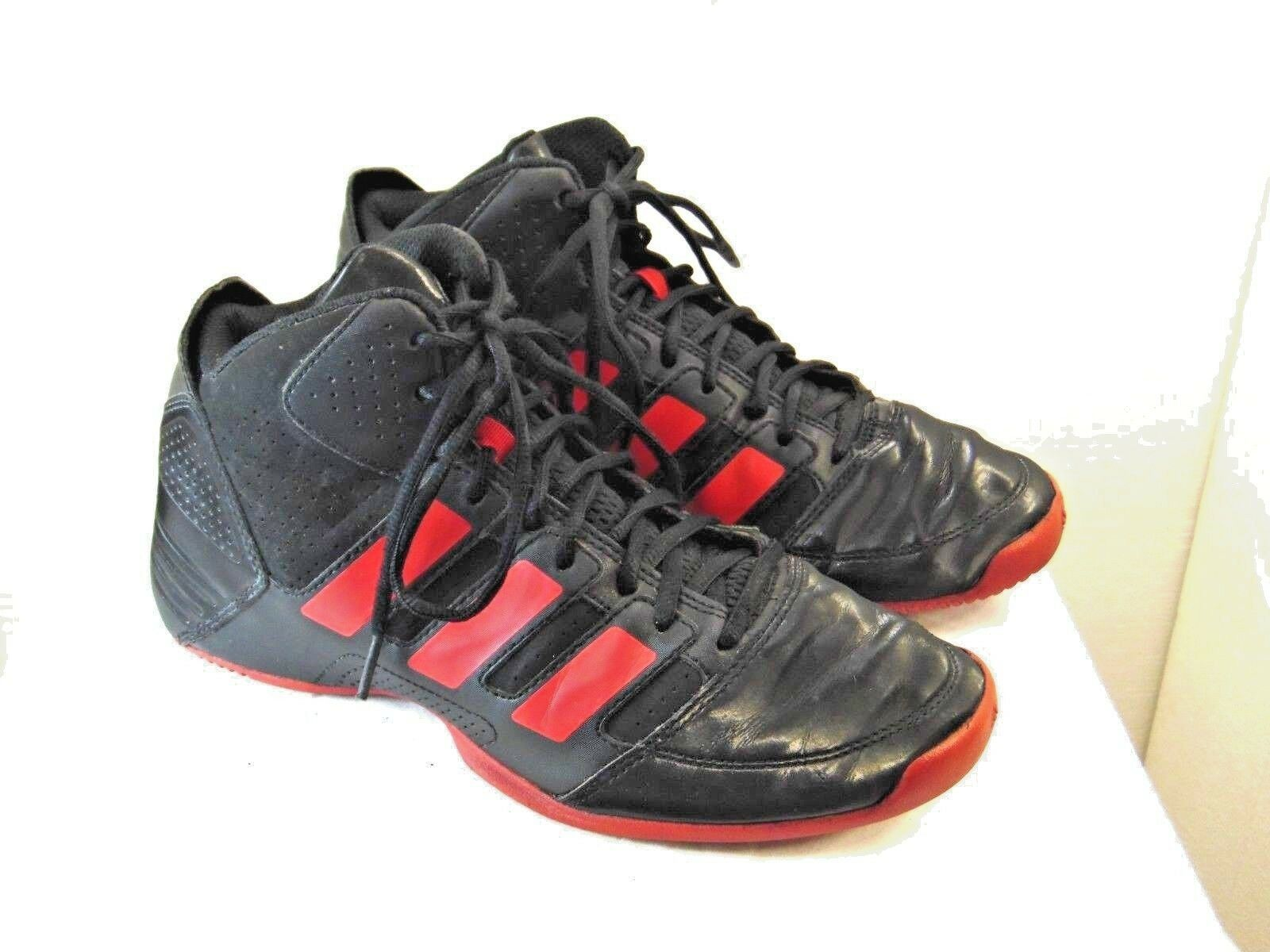 MENS OR BOYS  SHOES ADIDAS BRAND MENS SIZE 6.5 BOYS SIZE 4.5 YBLACK +RED ZV11 New shoes for men and women, limited time discount
