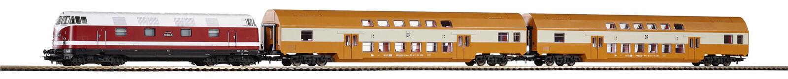 grande vendita PIKO 57135 Estrellatset DIESEL BR 118 + 2 bastone doppio doppio doppio autorello DR h0  vieni a scegliere il tuo stile sportivo
