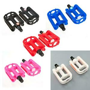 KIDS-BIKE-PEDALS-in-Black-White-Pink-Red-Blue-9-16-034-Thread-Childrens-Bicycle