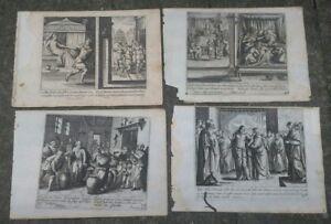 1690-GERARD-JOLLAIN-LOTTO-4-RARE-INCISIONI-CON-SCENE-BIBLICHE-DENTRO-LE-CITTA-039