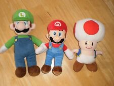 Mario, Luigi and Toad Plush Lot
