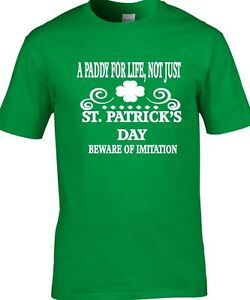 8ed30e85 St. Patrick's Day T-Shirt Men's A Paddy For Life Irish Patriotic T ...