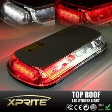 White Red 44 LED Light Mini Bar Roof Top Emergency Hazard 44W Flash Strobe Light