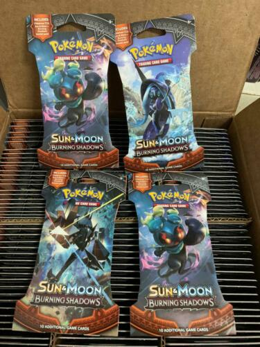 Pokemon SM3 BURNING SHADOWS EN Factory Sealed Set of 36 SLEEVED Booster Pack