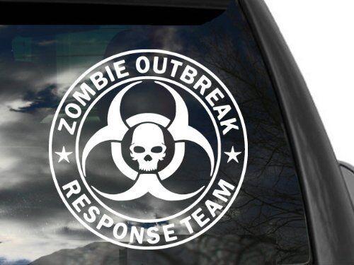 FGD Zombie Outbreak Response Team Skull Large Vinyl Decal Sticker