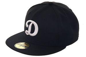 28444a5f60348d New Era Los Angeles Dodgers MLB Authentic Black D LOGO 59FIFTY Cap ...