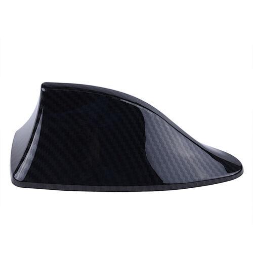 Carbon Fiber Shark Fin Shape Car Exterior FM//AM Antenna Aerial Radio Signal