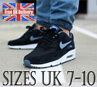 Nike AIR MAX 90 ESSENTIAL Men's Trainers in Black/Grey UK 7-10 / UK SELLER