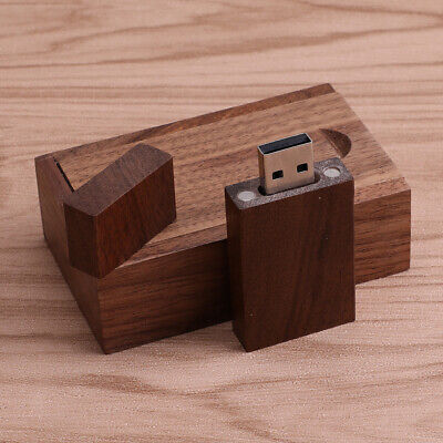 10pcs 16G Walnut Wood Rotate USB 2.0 Flash Drive Memory Stick /& Box