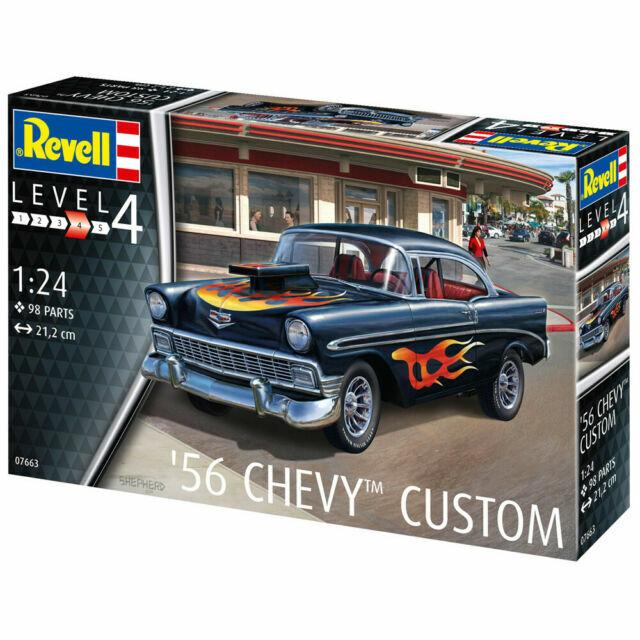 Revell 07663 1:24 56 Chevy Custom Plastic Model Kit 1//24