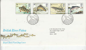 1983 GB  BRITISH RIVER FISHES  ROYAL MAIL FDC  EDINBURGH FDI 26 JAN 1983 - Halesworth, United Kingdom - 1983 GB  BRITISH RIVER FISHES  ROYAL MAIL FDC  EDINBURGH FDI 26 JAN 1983 - Halesworth, United Kingdom